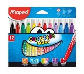 Фломастеры 12 штук 'Color Peps MAXI' Maped