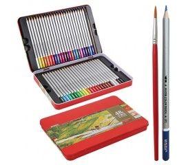 Карандаши цветные акварельные 48 шт. в металлическом пенале