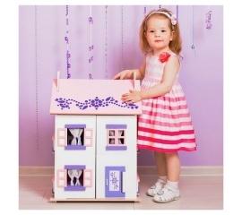 Деревянный кукольный домик 'Анастасия' с 15 предметами мебели