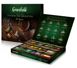 Чай Greenfield набор 'Pyramid Tea Collection' 60п*2г (12 видов) пирамидкиЧай Greenfield набор 'Pyramid Tea Collection' 60п*2г (12 видов) пирамидки